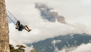 solo travel swing at the end of the world Ecuador