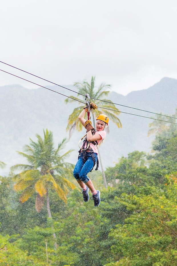 St Lucia zip-lining