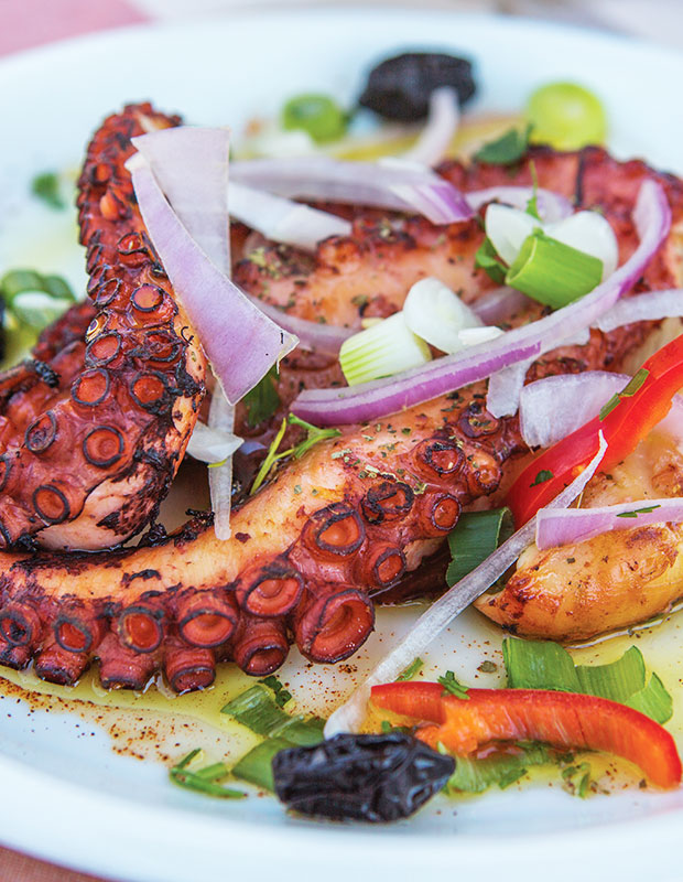 Better Beach Greece best traditional Greek food octopus