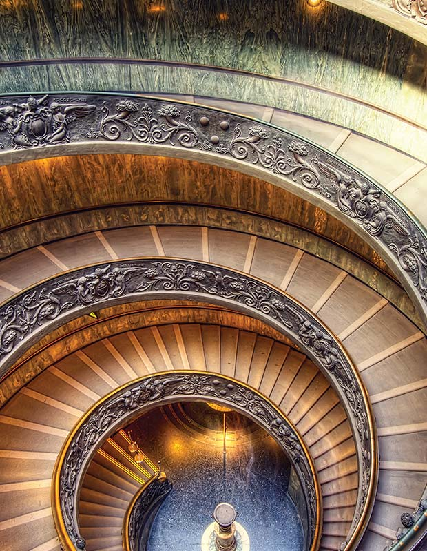 The Vatican's spiral staircase