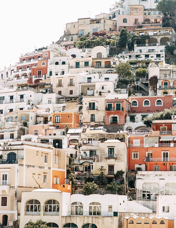 The pastel homes of Positano