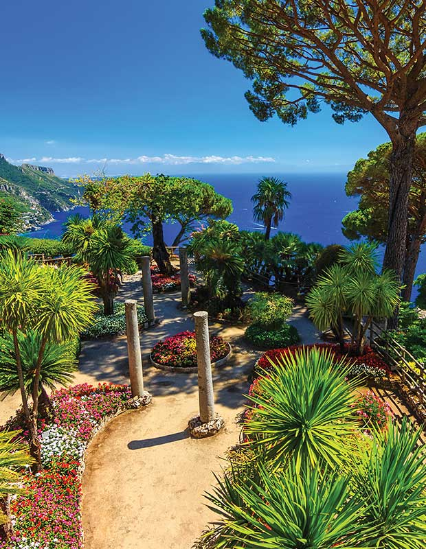 The gardens and views from Ravello