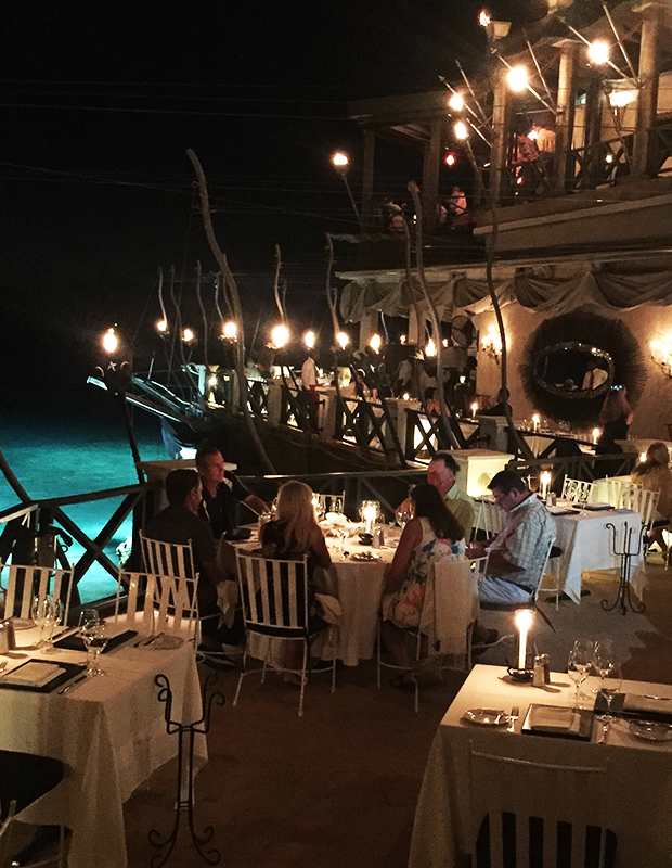 Torch-lit dinner at The Cliff Restaurant, Barbados
