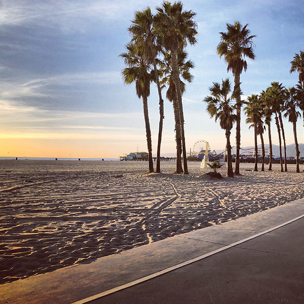 Los Angeles beach at sunrise