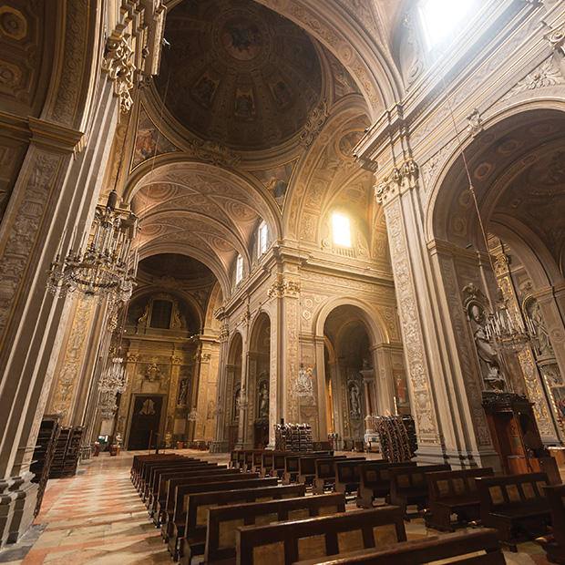 cathedral in ferrara, italy