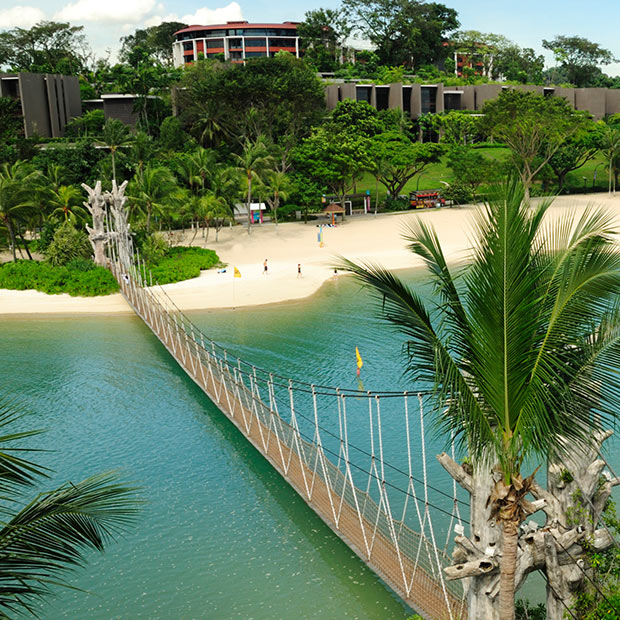 Suspension bridge on Sentosa Island