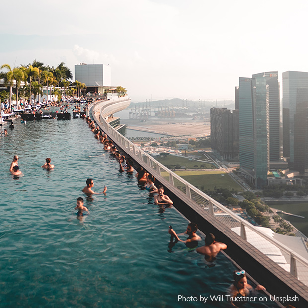 Marina Bay Sands Infinity pool overlooking Singapore