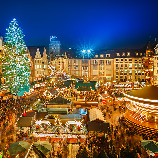 bright lights illuminate market stalls at germany's christmas markets