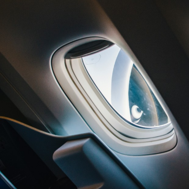 window view from within an aircraft