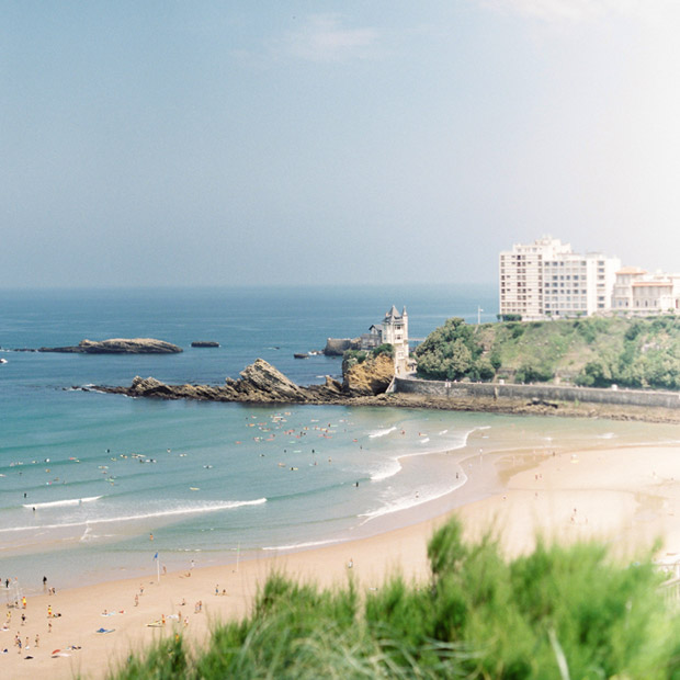 The sweeping beaches of Biarritz, France