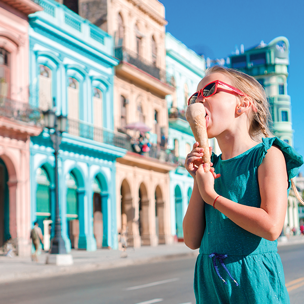 kids eating ice cream in havana