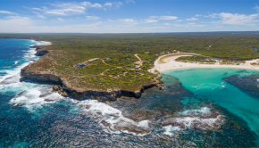 aerial view of beautiful southern coast of australia