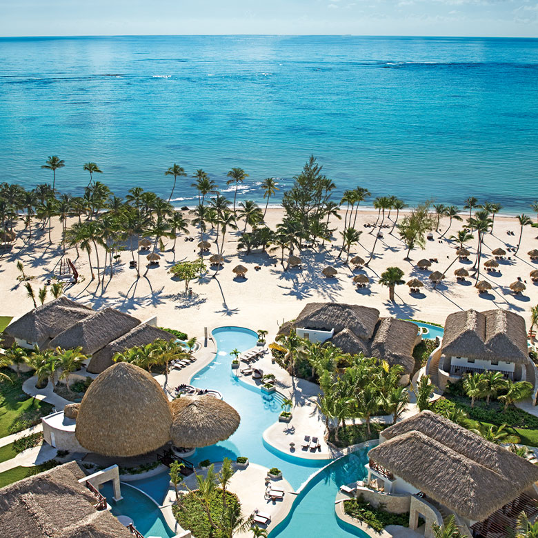 Aerial view of Secrets Cap Cana resort