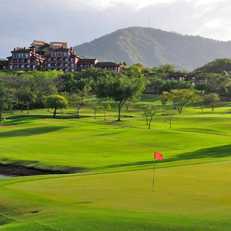 Reserva Conchal golf course with Westin resort in the backround.
